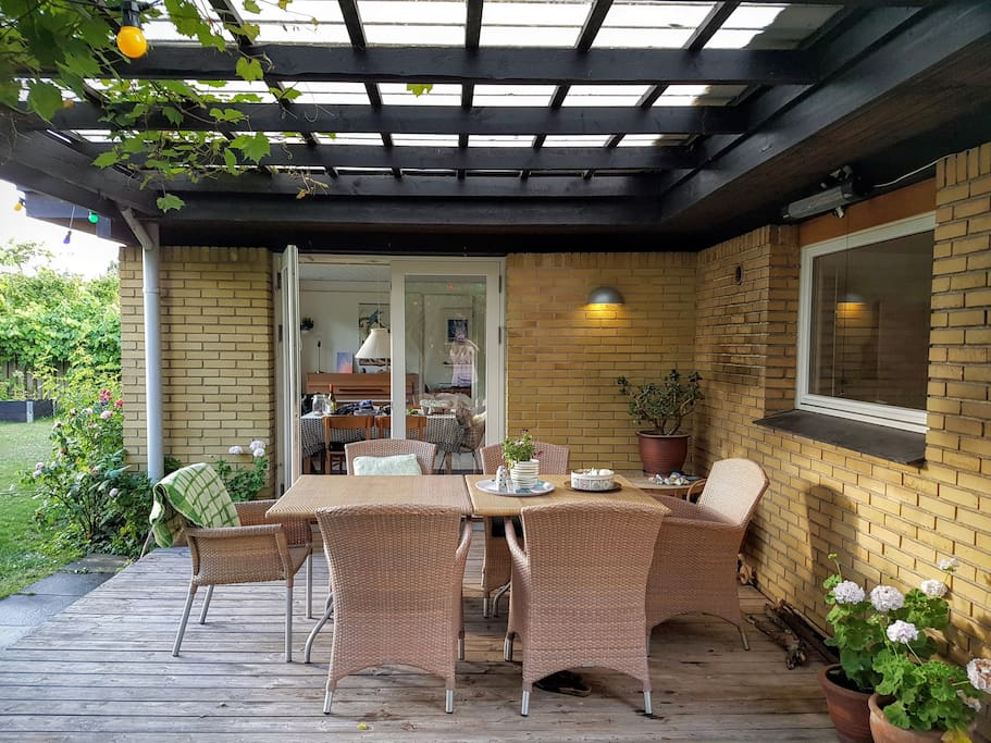 Patio with gasgrill