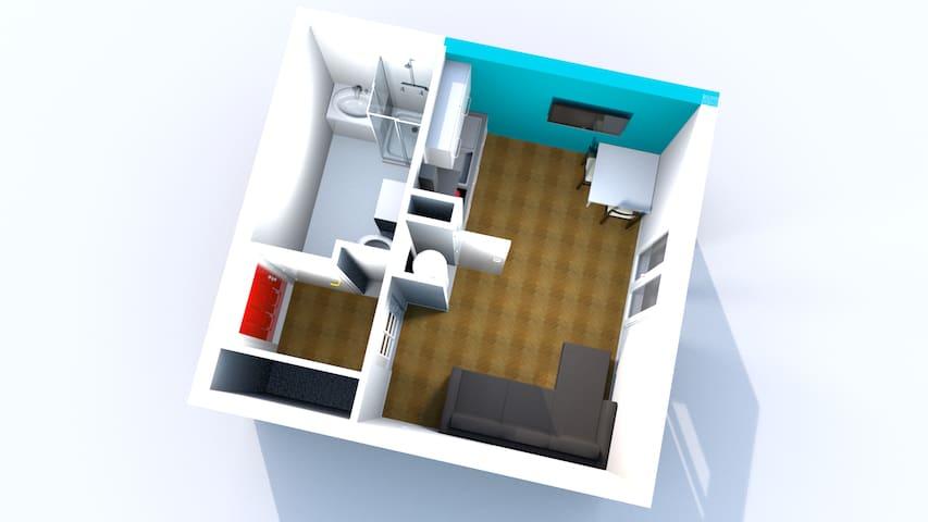 Studio moderne et confortable avec parking
