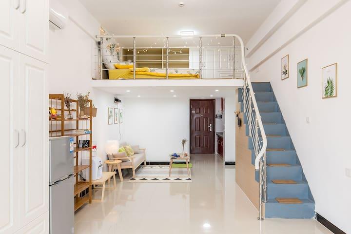 【壹】嘉定西11号线0距离 直达虹桥枢纽 一室整租 小清新风 私人影院
