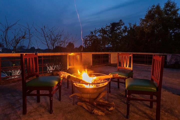 3BR Private Villa nr Jim Corbett w/BKFST+Bonfire