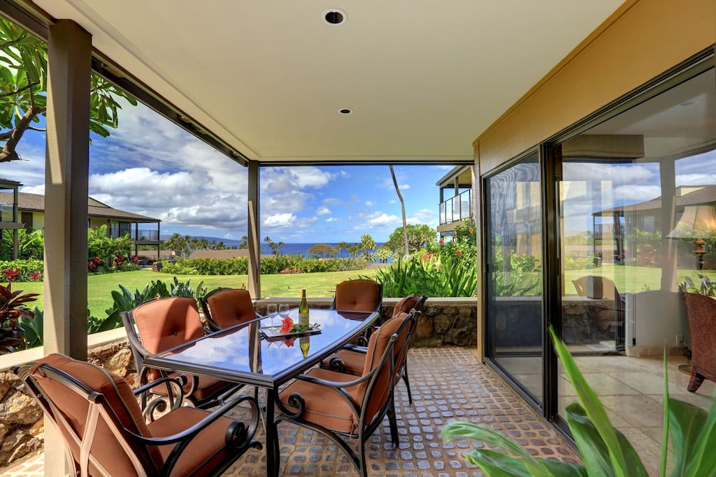 Large Lanai with plenty of room for entertaining or just enjoying the great view