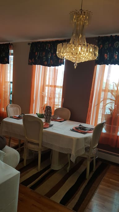 our dinning area for 4 set up for any desire meal.