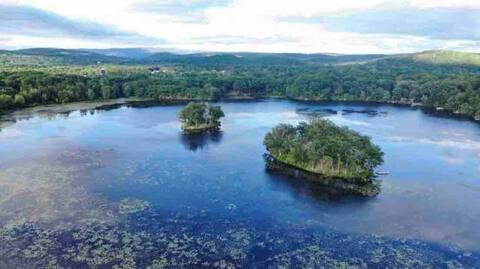 Twin Island Lake  Private Island