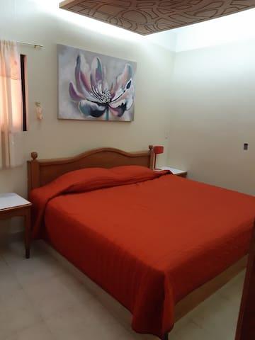 Habitacion principal con tv y cama king size