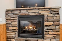 fireplace and Apple TV service