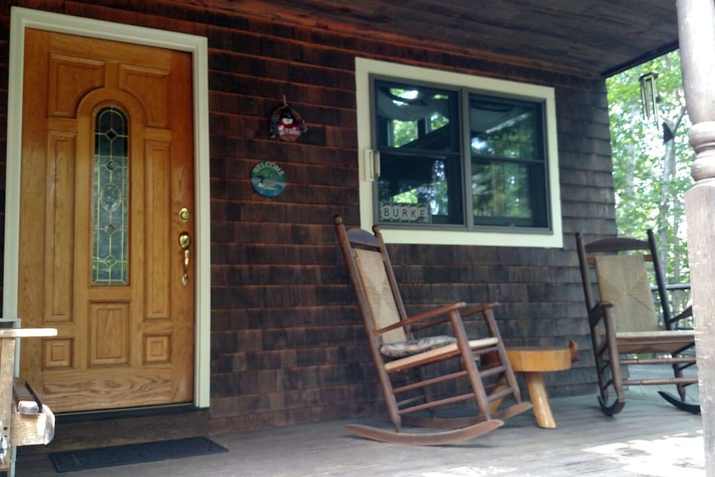Front porch, comfortable sitting area.
