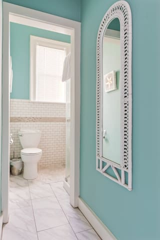 Bathroom 1: toilet and shower