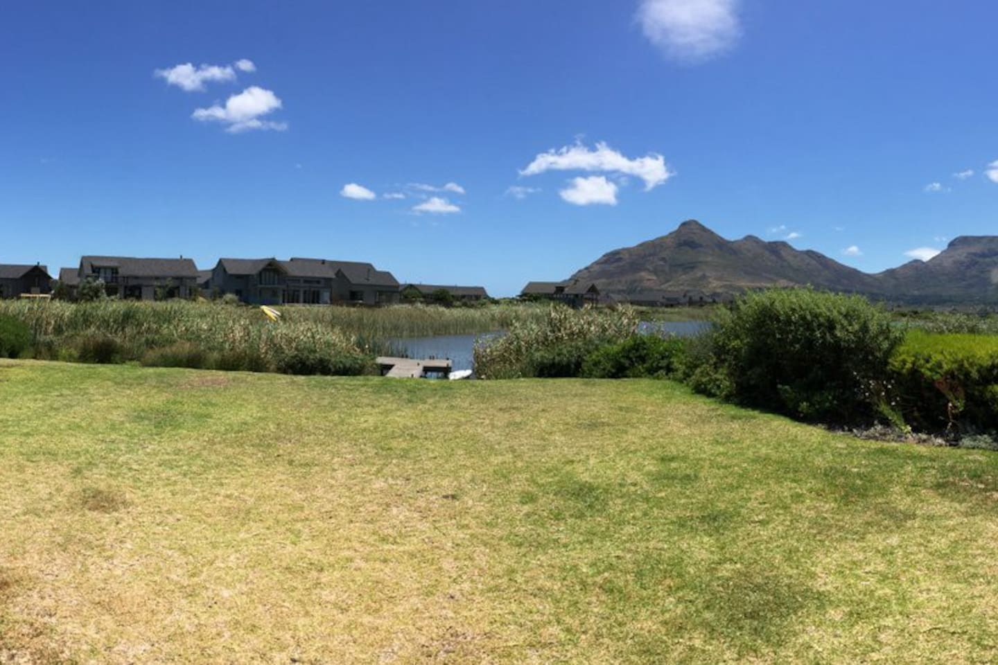 The view from the front lawn. Note -No boundary fence before the water.