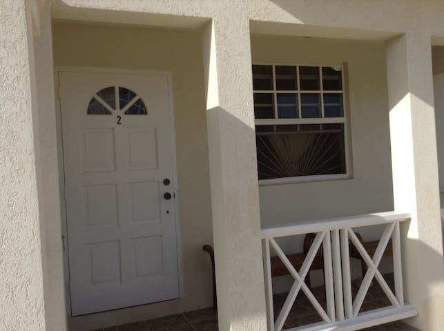 Front of apartment