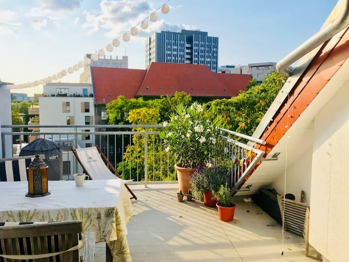New rooftop loft, 2 terraces 95 sqm