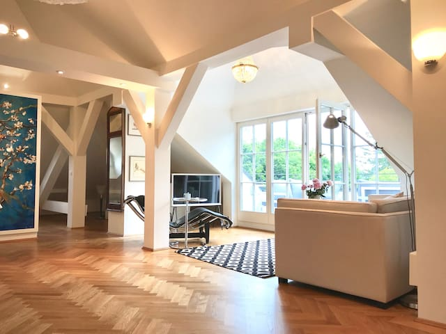 Villa Romenthal - Loft mit Dachterrasse & Seeblick