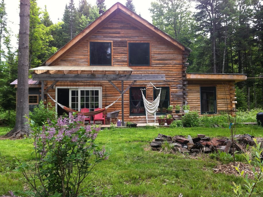 magical karma cabin in the woods cabins for rent in morristown vermont united states. Black Bedroom Furniture Sets. Home Design Ideas