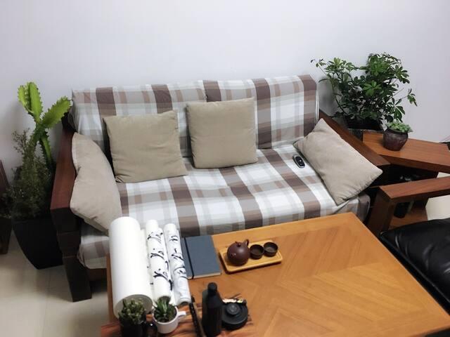 郑州海洋馆旁植物精装两居 茶艺书画 1张床2位房客 - Zhengzhou - Wohnung