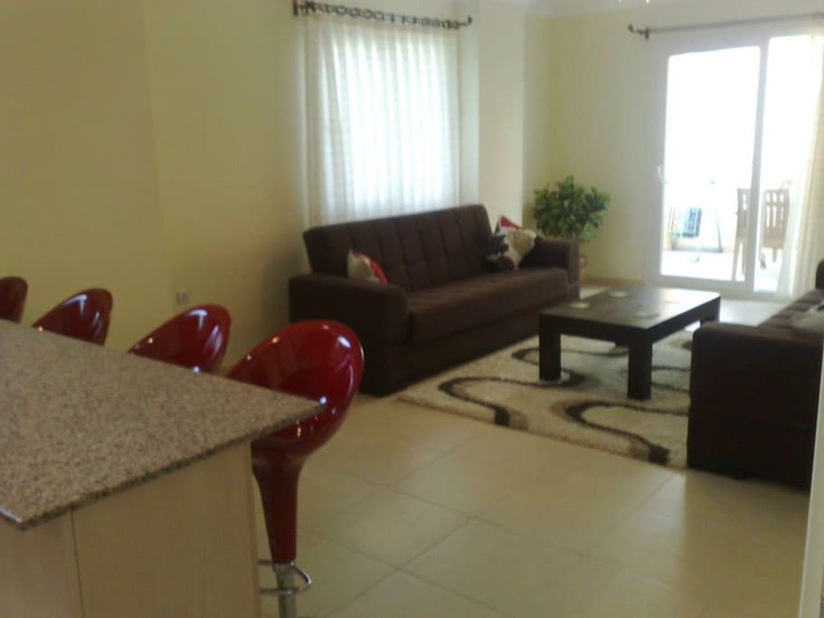Spacious Lounge .....leading to private balcony (with two comfortable Double sofa beds)