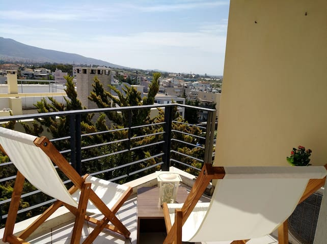 Close to the beach flat with a pool !! - Alimos - Appartement