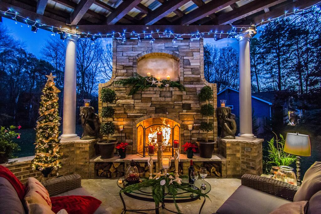 New for 2017:  Outdoor fireplace.