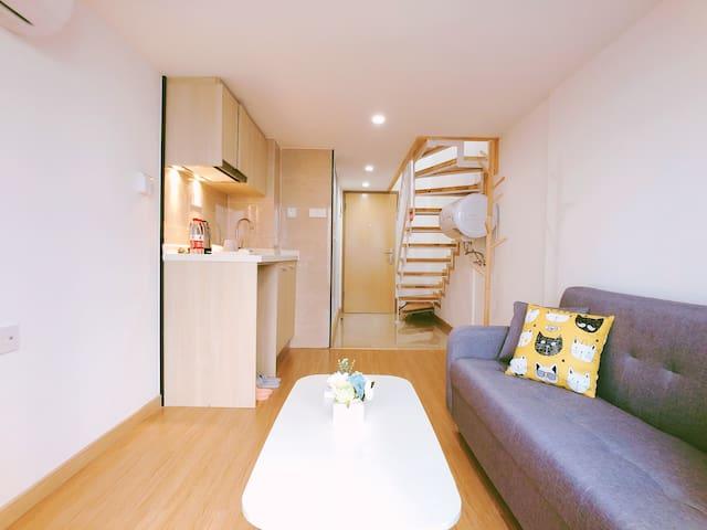 广州南站超近免费接送特惠房全新精装万科公寓可开发票