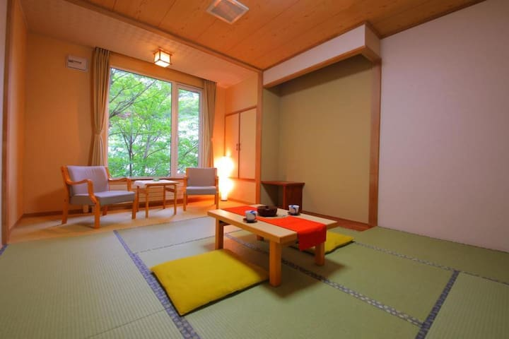 Transfer from JR Noboribetsu sta / Onsen open-air bath available / 2 Meals included / Capacity for 2 people