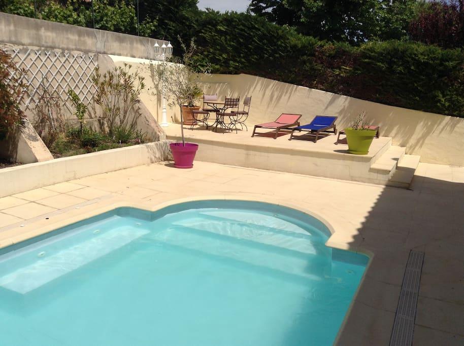 Chambres pour 4 dans une maison calme avec piscine for Chambre d hote avec piscine