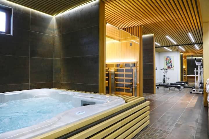 Maison avec sauna et jacuzzi interieur