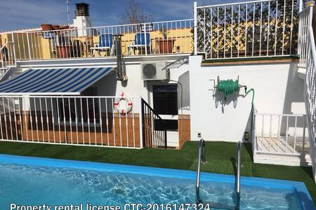 Guest House. Penthouse SC heated pool. - Villanueva de Algaidas