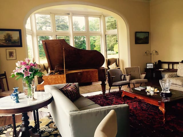 The drawing room with lots of daylight and it's a pleasure to be in this room reading and listening to classical music