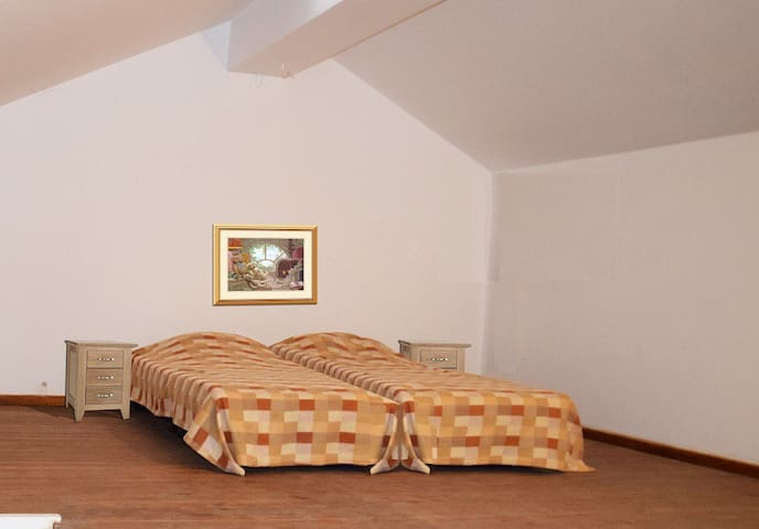Level 2: Loft, consisting of one double bed 2 single beds