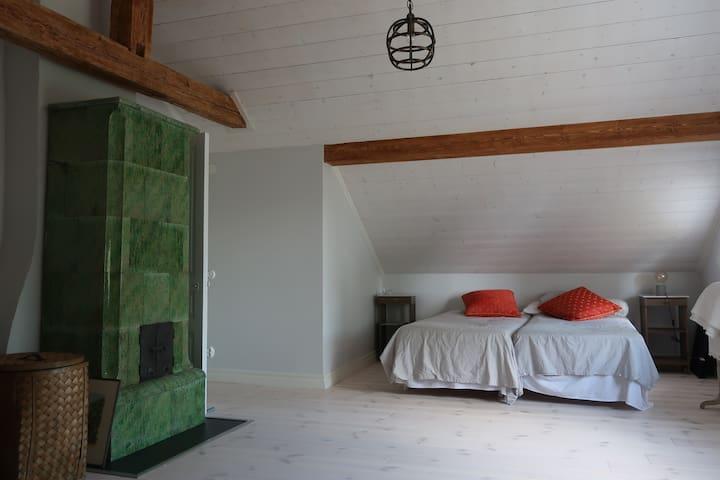 Very spacious master bedroom.