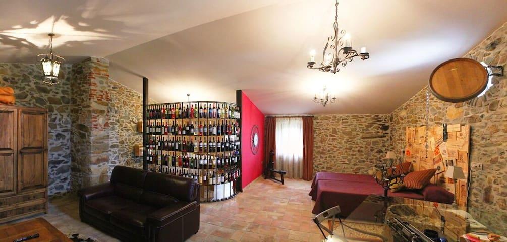 Suite Romantica en Hotel Rustico ( Vinum Rosae ). - Mollet de Peralada - Appartement