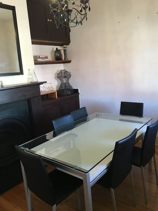 Dining area with original coal grate