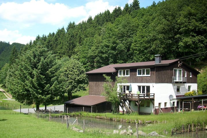 A holiday home for 3 persons in a deer park