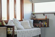 Simply charm, bifold windows to let the breeze through