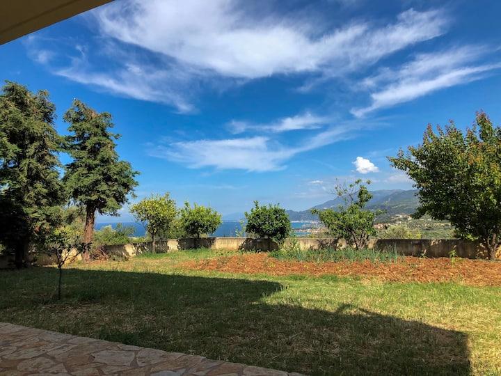 Akrata Sea view Villa apartment
