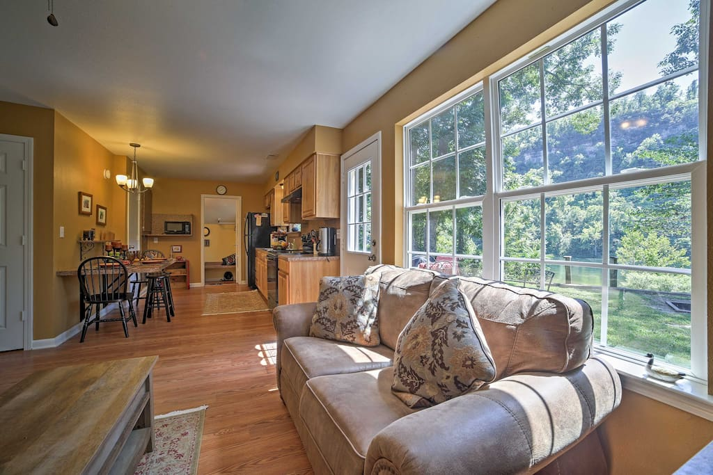 The cabin is well appointed, with modern features and tasteful furnishings throughout.
