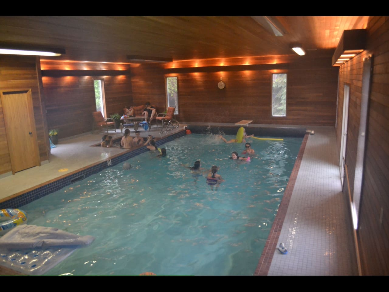 Huge heated indoor pool and changeroom with a shower!