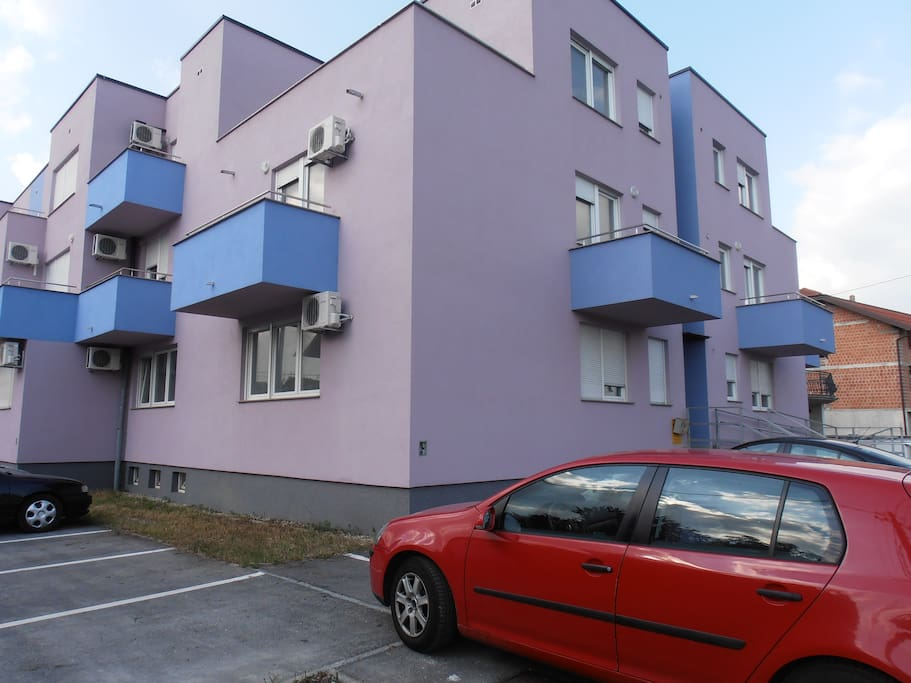 Building - the apartment is on the first floor.