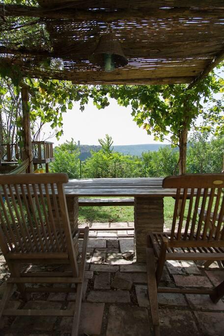 View from the garden across to Civita di Bagnoregio