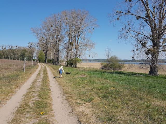 See, Weite & Lust auf Landleben - Haus in Fergitz