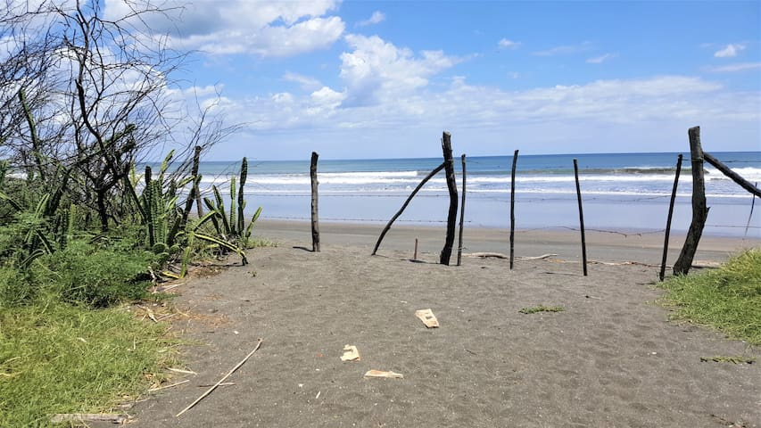 Beach access from property.