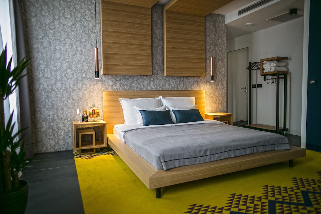 Cozy and modernly designed extra double bedroom
