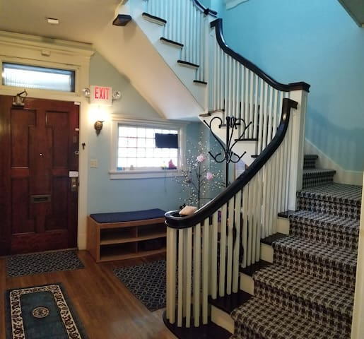Entrance to your room upstairs
