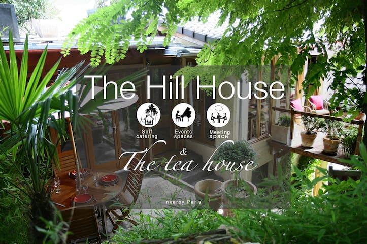 The Hill House (130m2) Gîte+Tea House nearby Paris