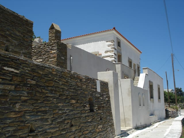 Sun washed house overlooking the sea - Andros - House