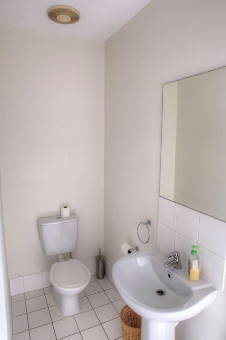 Upstairs separate toilet