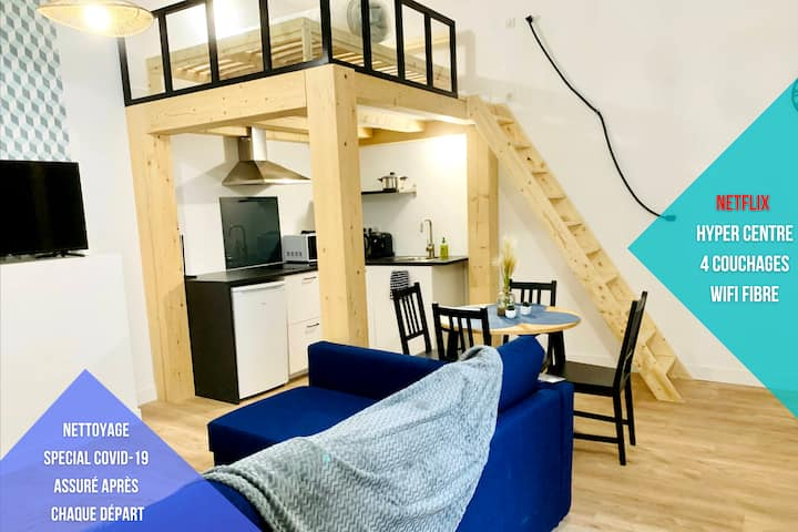 ★★ APPARTEMENT COSY - (HYPER CENTRE+WIFI+NETFLIX)★
