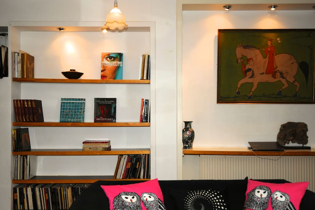 Our home has an eclectic arty vibe, comfortable, and one of a kind place to stay.