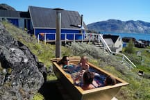 room for an entire family in the hot tub