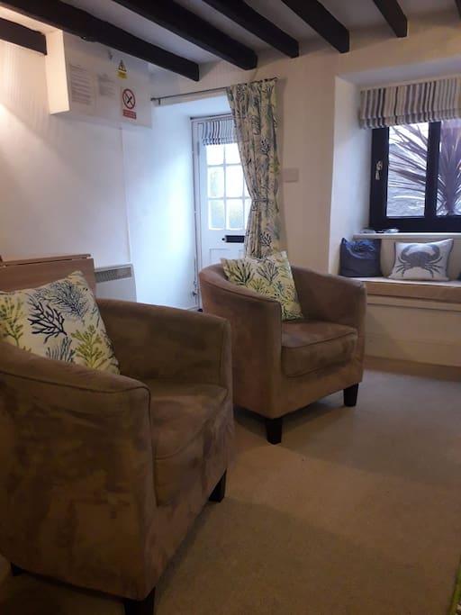 View of lounge looking towards front door