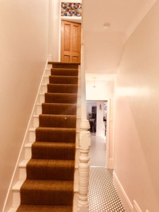 sisal covered stairs..