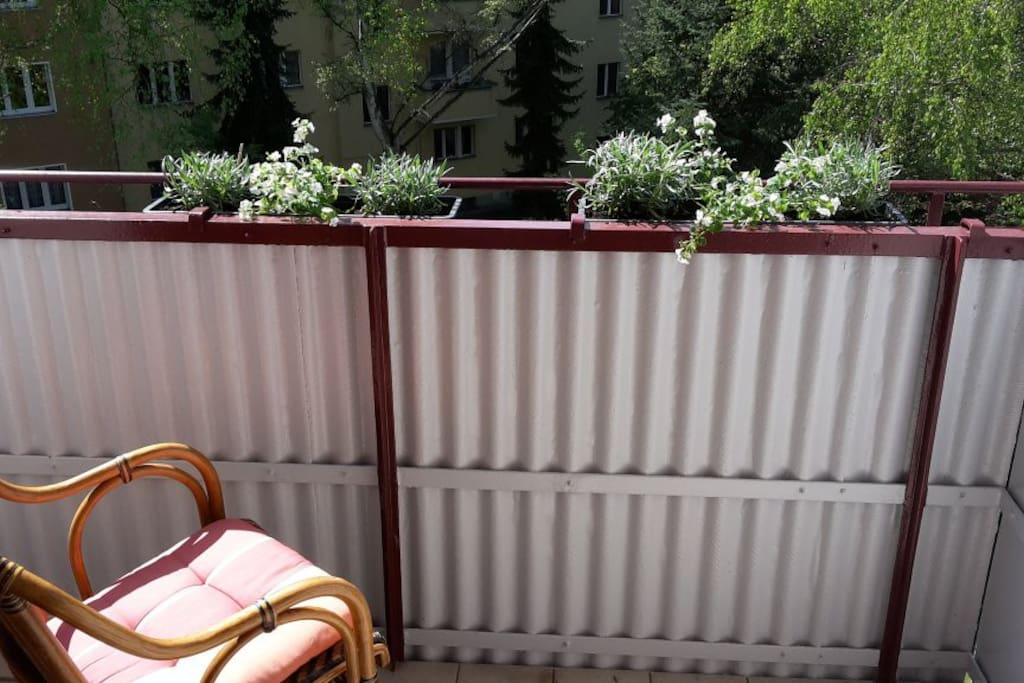 Enjoy the sun on the balcony in the afternoon